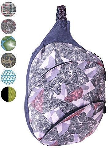 - Slope Sling Backpack for Women with 13 Inch Laptop Pocket Kids Cross Body Bag Pocket One Shoulder Strap Daypack - Tri-Fold