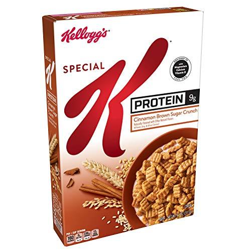 Kellogg's Special K Protein, Breakfast Cereal, Cinnamon Brown Sugar Crunch, Good Source of Protein, 11oz Box(Pack of 10) (Protein Cereal K Special)