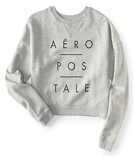 Aeropostale Womens Logo Sweatshirt Grey M - Juniors by Aeropostale