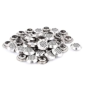 uxcell Round Panel Shoes Cabinet Air Vent Louver Cover 19mm Bottom Dia 40pcs