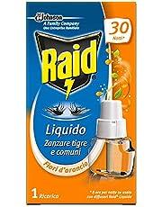 Raid Elektrische vloeistof tegen muggen, navulverpakking, geur sinaasappelbloesem, 3 verpakkingen met 30 nachten, 21 ml per navulverpakking