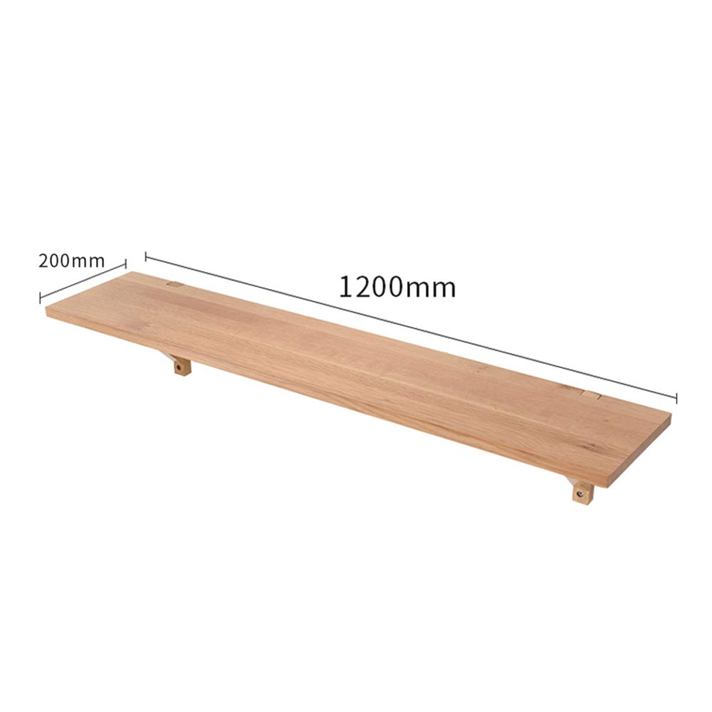 1 120CM YNN Solid Wood Partition Wall Storage Shelf Set-top Box Wall Hanging Background Wall Decorative Layer (color   02, Size   120CM)