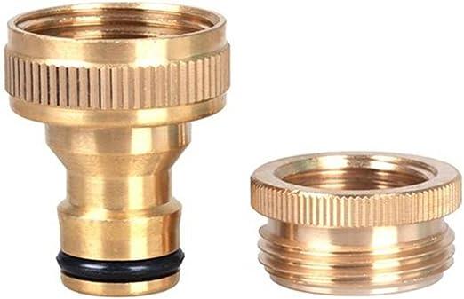 FAVOLOOK Conector de manguera de latón de conexión rápida para manguera de jardín de 1,27 cm a 1,9 cm, latón, para manguera de agua, adaptador para grifo: Amazon.es: Hogar