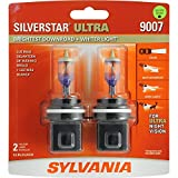 SYLVANIA - 9007 SilverStar Ultra - High Performance Halogen Headlight Bulb, High Beam, Low Beam and Fog Replacement Bulb, Brightest Downroad with Whiter Light, Tri-Band Technology (Contains 2 Bulbs)
