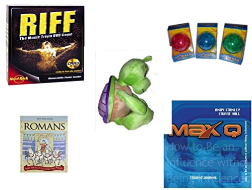 Children's Gift Bundle - Ages 6-12 [5 Piece] - Riff DVD Game - Smart 12 Piece Puzzle Ball Assrt Colors Red, Blue, Green - Turtle Plush 14