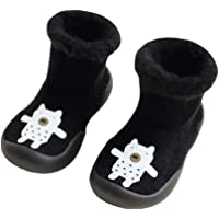 YiyiLai Baby Toddler Thick Velvet Anti Slip Solid Rubber Sole Shoes Socks