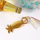 Wedding Favor Gold Pineapple Bottle Opener Wine Opener (10) For Sale