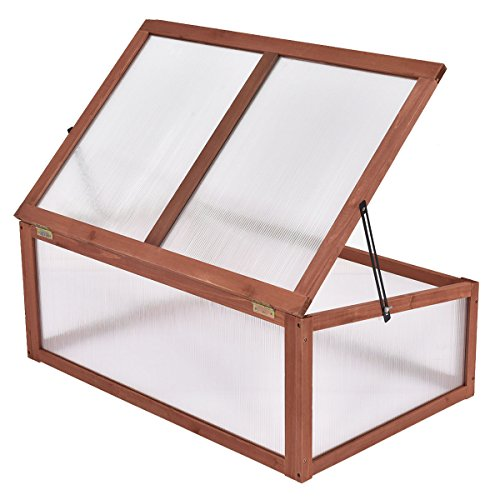 Maximumstore Garden Portable Wooden Green House Cold Frame Raised Plants Bed Protection New by Maximumstore (Image #4)
