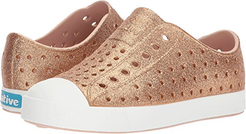 native Kids Shoes Girl's Jefferson Bling (Little Kid/Big Kid) Rose Gold Bling 1 M US Little Kid by native