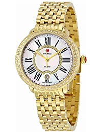 Serein White Mother of Pearl Dial 18kt Gold-plated Ladies Watch MWW21B000031