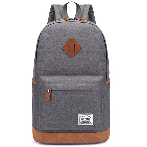 Vintage Canvas Laptop Backpack School College Rucksack Bag (Army green) - 7