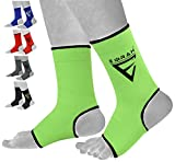 EMRAH Ankle Foot Support Anklet Brace Pad Sock KickBoxing Thai Protector MMA - X (Green, Large)