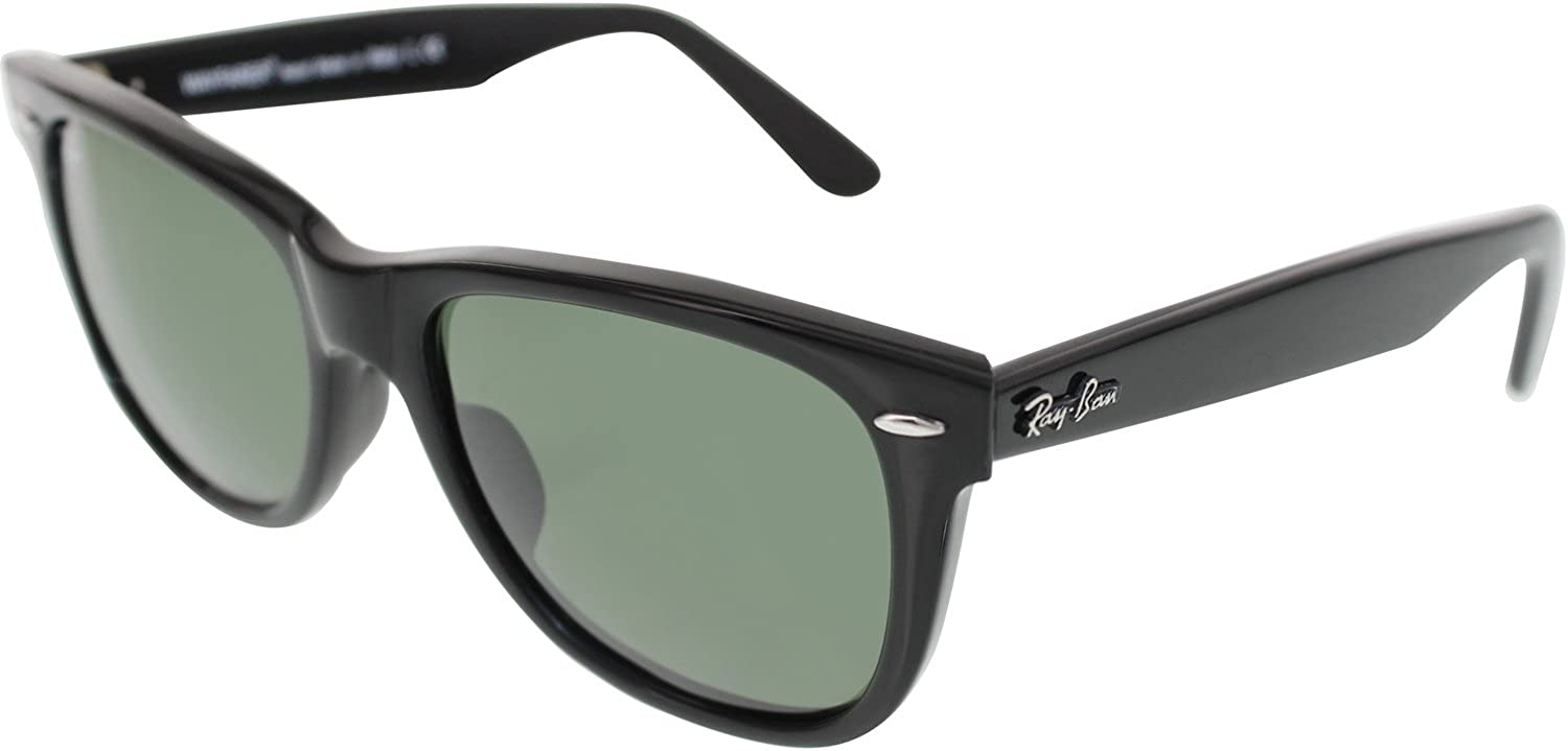 Amazon.com  Ray-Ban Original Wayfarer Sunglasses Black Green  Ray-Ban  Shoes a32205899f