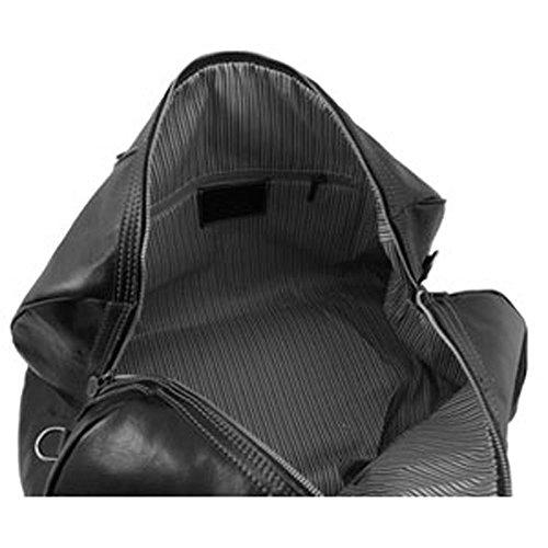 para piel hombro negro cerdo Bolso de al negro hombre de Leather Tuscany wg8qFF
