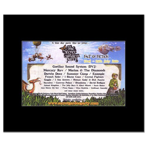Festival Mini Poster (SECRET GARDEN PARTY FESTIVAL - 2010 - Mercury Rev Marina And The Diamonds Matted Mini Poster - 21x13.5cm by Music Ad World)