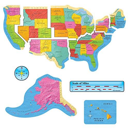 (TREND enterprises, Inc. T-8160 United States Map Bulletin Board Set)