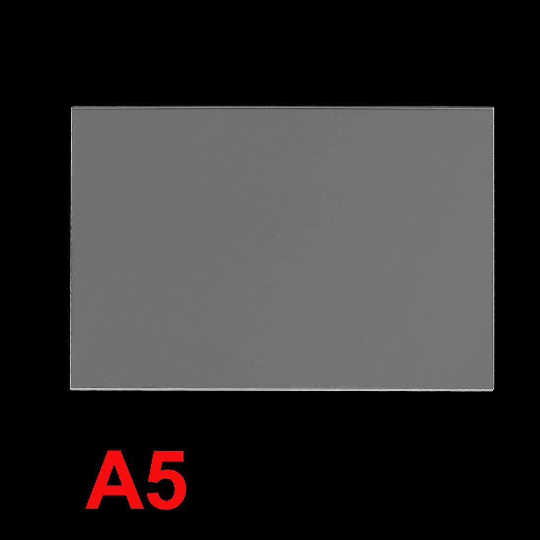 Effacer plastique acrylique Plexiglas Fiche A5 Taille 148mm x 210mm x 3mm