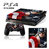 Ci-Yu-Online VINYL SKIN [PS4] Captain America: Civil War #4 Whole Body VINYL SKIN STICKER DECAL COVER for PS4 Playstation 4 System Console and Controllers - Captain America #4