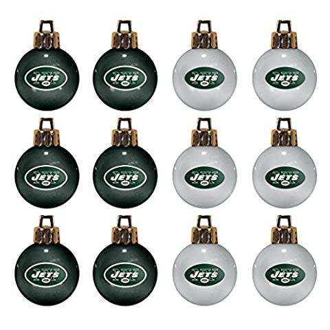 NFL New York Jets 12-Pack Mini Ornament Set - Santa Nfl New York Jets