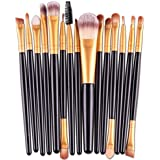 Makeup Brush,Canserin 15 pcs/Sets Eye Shadow Foundation Eyebrow Lip Brush Makeup Brushes Tool