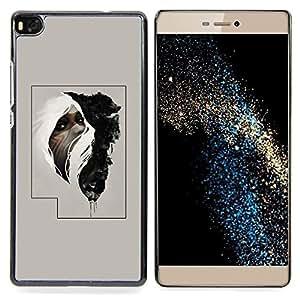 "Planetar ( Rayas Líneas Patrón Monotone"" ) Huawei Ascend P8 (Not for P8 Lite) Fundas Cover Cubre Hard Case Cover"