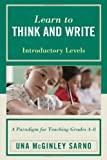 Learn to Think and Write, Una Mcginley Sarno, 1610481070