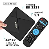 2017 Model Globmall ABOX A1 Mini Android 5.1 TV Box with Rockchip RK3229 Quad-core Cortex A7 and True 4K Playing
