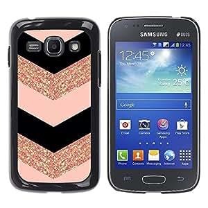 Design for Girls Plastic Cover Case FOR Samsung Galaxy Ace 3 Chevron Dress Fashion Glitter Gold Pattern OBBA