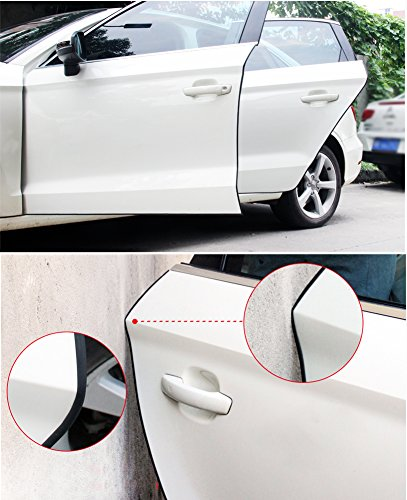5M Red Car Door Edge Guards U Shape Edge Trim Rubber Seal Protector Car Protection Door Edge Fit for Most Car OUERKEJI Car Door Edge Protector,16Ft