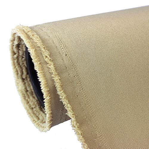 Waterproof Canvas Fabric Outdoor 600 Denier Indoor/Outdoor Fabric by the yard PU Backing W/R, UV, 2times GOOD PU Color : KHAKI 10 - Outdoor Indoor Canvas