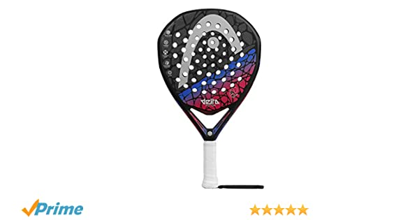Head Graphene Touch Delta Motion 2018 Pala de pádel de Tenis, Mujer, Negro, Rosa/Azul, 0.36