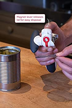 Zyliss Lock N' Lift Can Opener With Lid Lifter Magnet, White 12