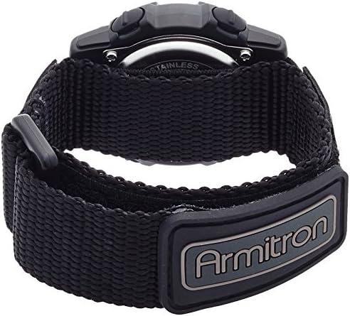 Armitron Sport Unisex 45 7004BLU Navy Blue Accented Digital Chronograph Black Nylon Strap Watch