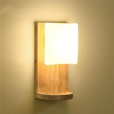 En Bois Moderne Et Simple Led Lampe Murale Chambre Salon Lampe