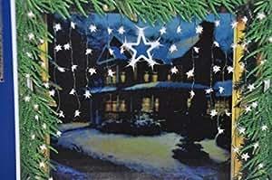 SSITG Luz cortina decoración de ventanas estrellas LED Luz Cadena Estrella Estrella cortina