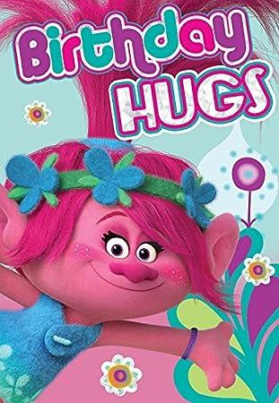 Amazon Trolls Birthday Hugs Birthday Card Office Products
