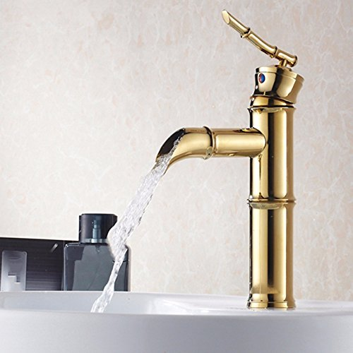 Cheap  LHbox Basin Mixer Tap Bathroom Sink Faucet European Modern Minimalist Vacuum Coated..