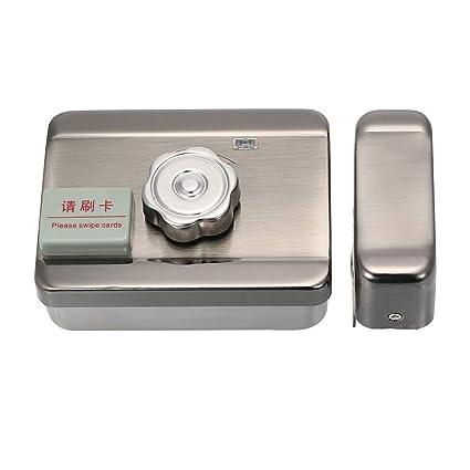 OWSOO Cerraduras Electricas para Puertas Bloqueo de Silencio con Control Remoto y Tarjeta ID para Sistema