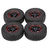 Goolsky 4Pcs AUSTAR AX-3020C 1.9 Inch 103mm 1/10 Scale Tires with Wheel Rim for 1/10 D90 SCX10 CC01 RC Rock Crawler