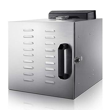 Secador de Frutas Pantalla Digital eléctrica Temperatura Regulable Sincronización Silencio Bandeja de Acero Inoxidable de 6