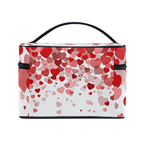 Makeup Bag Sweet Love Hearts Mens Travel Toiletry Bag Mens Cosmetic Bags for Women Fun Large Makeup Organizer by All agree (Image #4)