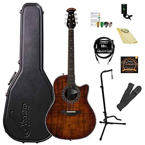 (Ovation Legend Plus AA Solid Spruce Top Acoustic-Electric Guitar Kit with ChromaCast Accessories)