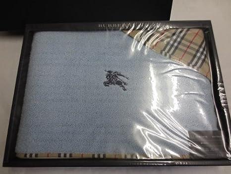 Burberry toalla de baño 100% algodón bordado de caballo marca luz azul: Amazon.es: Hogar