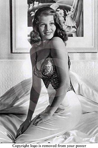 Huge Laminated / Encapsulated Rita Hayworth Vintage sex Symbol Poster measures