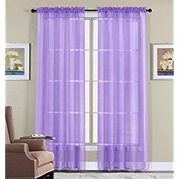 WPM 60 X 63 Inches Sheer Window Elegance Curtains Drape Panels Treatment