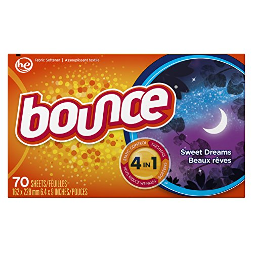 Sheet Dreams (Bounce Fabric Softener Dryer Sheets, Sweet Dreams Scent, 70 Count)