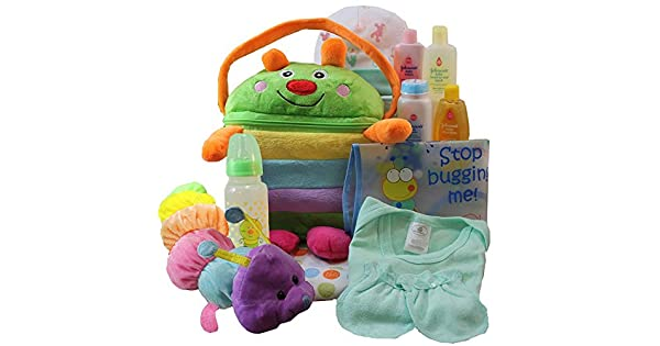 Amazon.com: Cesta regalo Cuddly Cutie Bug Baby, Neutral Niño ...