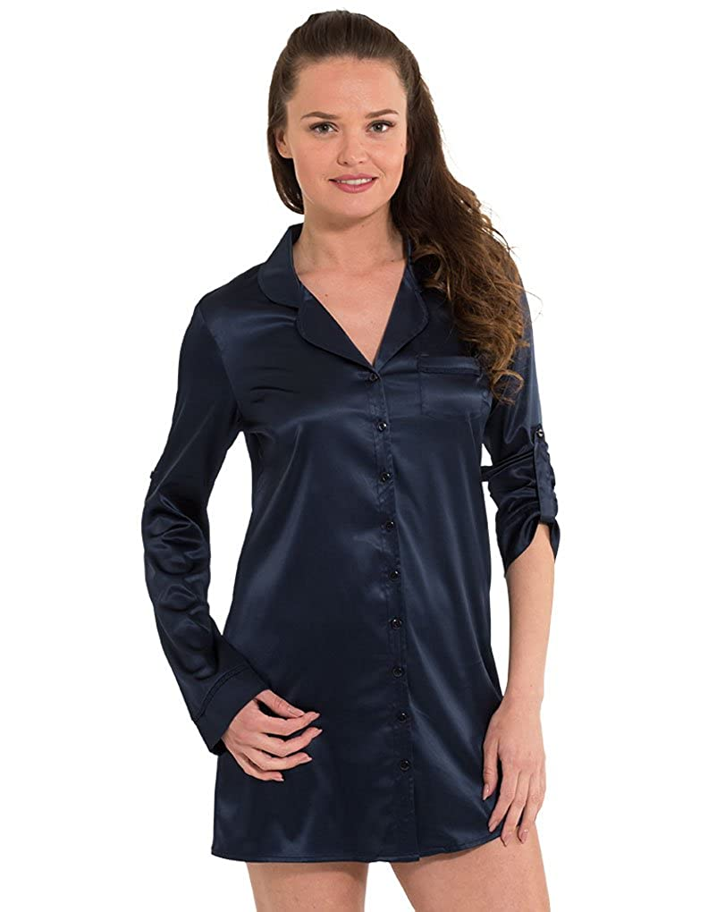 Sleep 2818py Satin Blue Fearless Women's Nights Lingadore Shirt 7WYZBY
