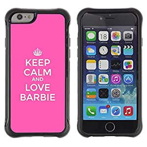 "Hypernova Defender Series TPU protection Cas Case Coque pour Apple Iphone 6 [La calma y Rosa divertido motivación""]"