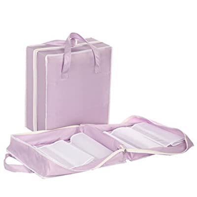 Portable Travel Shoe Bags Pouch Travel Shoe Tote Purple (hold 3 Pairs of Shoes)